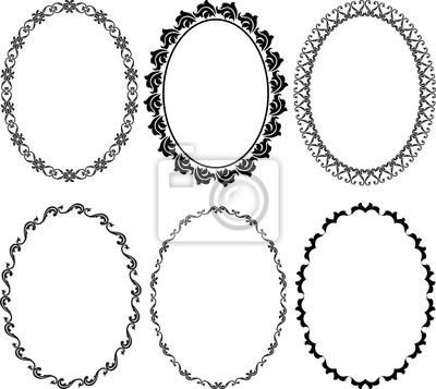 Sticker Rahmen oval