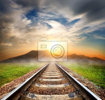 Railroad in die Berge