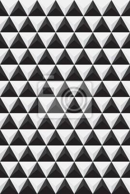 Rapport von schwarzen und weißen Dreiecke