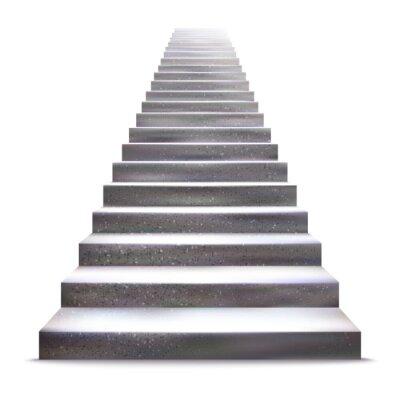 Sticker Realistic stone ladder vector illustration