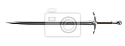 Sticker realistische 3D-Darstellung von Schwert