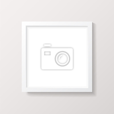 Realistische leere weiße quadratische bilderrahmen mockup notebook ...