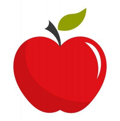 Sticker Red apple illustration
