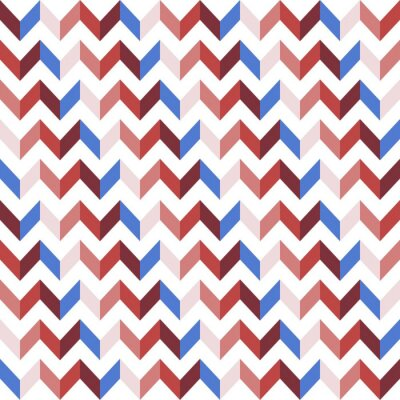 Sticker Red Chevron Nahtlose Muster