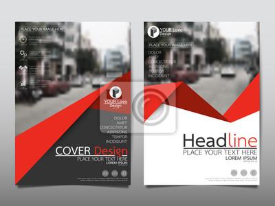 Sticker Red Flyer Cover Business Broschüre Vektor-Design, Leaflet Werbung abstrakten Hintergrund, Moderne Poster Zeitschrift Layout-Vorlage, Jahresbericht für die Präsentation.