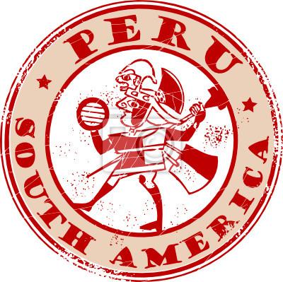 Red Grunge Stempel mit dem Namen Peru, Südamerika