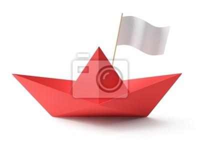 Red Papierboot