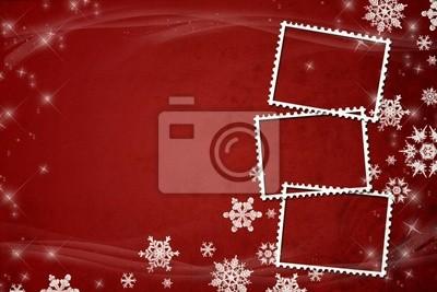 Red Weihnachten / Neujahr Illustration Hintergrund / Karte