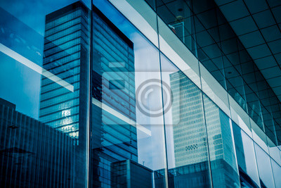 Sticker Reflection of architecture on modern office building