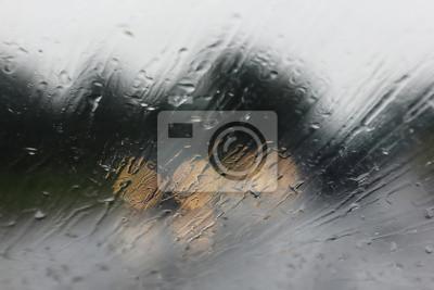 Regen auf dem Weg