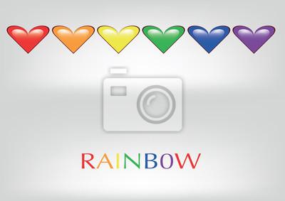 Regenbogen cuori arcobaleno vettoriali