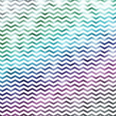 Sticker Regenbogen Weiß Metallic Faux Foil Chevron Muster Chevrons Textur