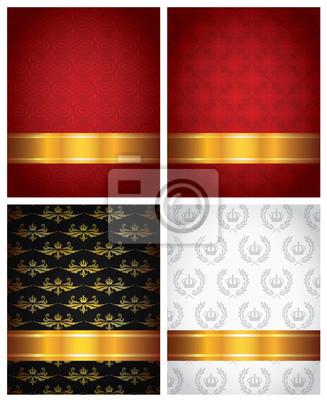 Reihe von dekorativen Hintergründe