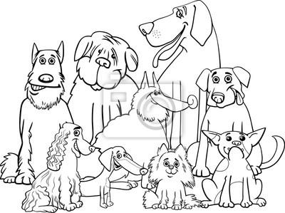 Reinrassige Hunde Malvorlage Notebook Sticker Wandsticker