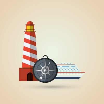 Sticker Reise-Icon-Design