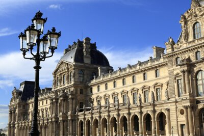 Sticker Renaissance-Architektur im Louvre, Paris