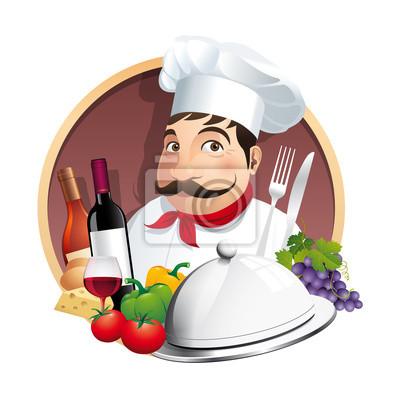 Restaurant logo Menü carte - Vecteur CMJN