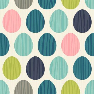 Sticker Retro-Farbe Vektor nahtlose Osterei Muster