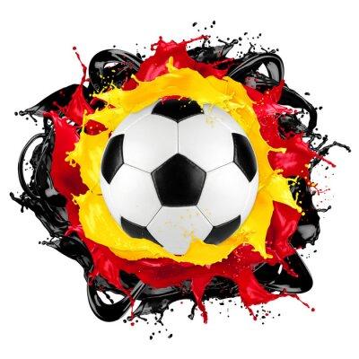Sticker Retro Fußball deutsche Flagge Farbe splash