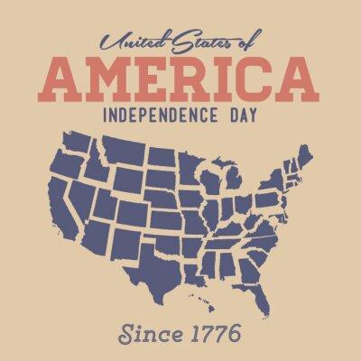 Sticker Retro Independence Day Anmelden