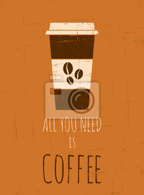 Retro-Kaffee-Plakat