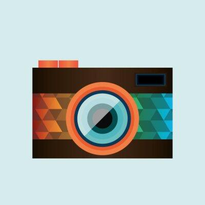 Sticker Retro Kamerabild