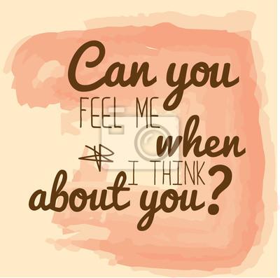"""Retro Metallzeichen """"Können Sie mich fühlen, wenn ich an Sie denke"""""""