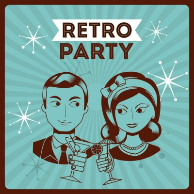 Sticker Retro-Party