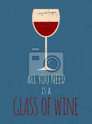 Retro Red Wine Poster