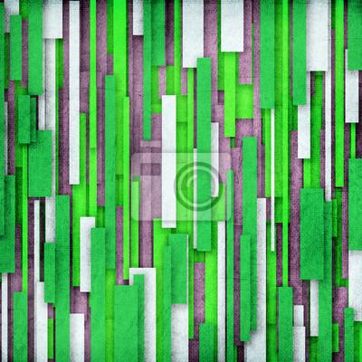 Retro Streifen-Muster in grün, grau, weiß