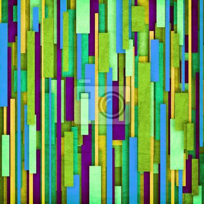 Retro Streifen-Muster in grün, lila, blau und gelb