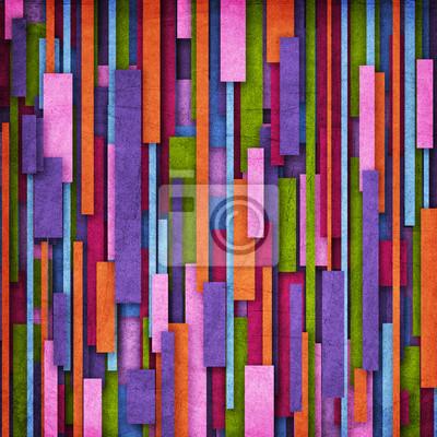 Retro Streifen-Muster in grün, lila, orange und violett
