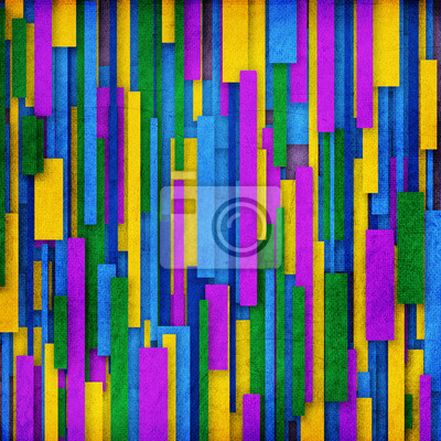 Retro Streifenmuster in grün, lila, gelb und violett
