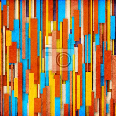 Retro Streifenmuster in orange, cyan, weiß