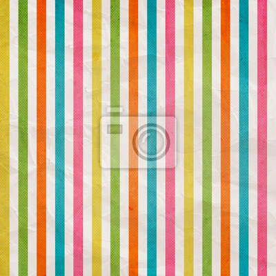Retro stripe pattern - background with colored pink, cyan, yello