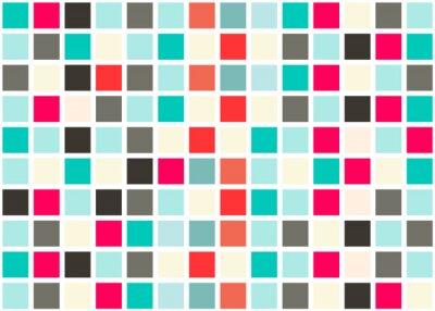 Sticker Retro-Web-Design Nahtlose Fliesen - Mosaic Square Background Vector Textur