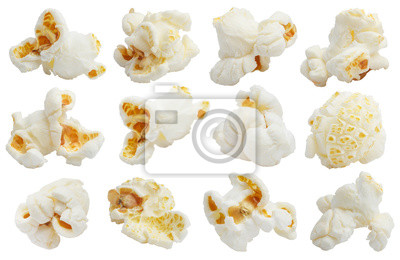 Sticker Rich collection of popcorn, isolated on white background