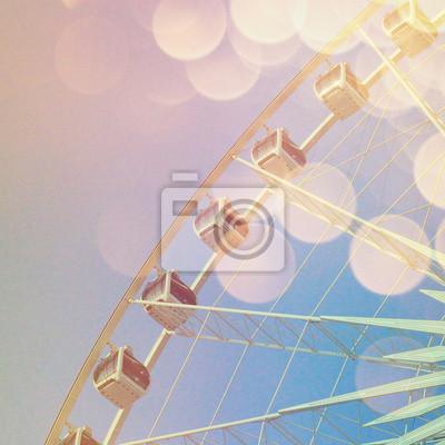 Riesenrad mit abstrakten Bokeh