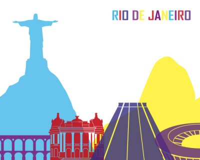 Sticker Rio de Janeiro Skyline pop