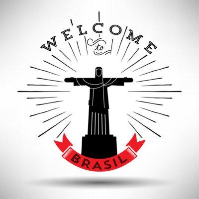 Sticker Rio de Janeiro-Typografie-Entwurf