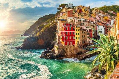 Sticker Riomaggiore, Cinque Terre, Italien