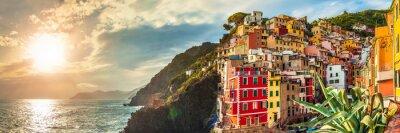 Sticker Riomaggiore Panorama, Cinque Terre, Italien