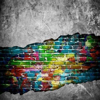 Sticker rissige Wand