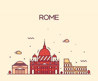 Sticker Rome City skyline detaillierte Vektor Einklang Kunststil