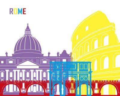 Sticker Rome skyline pop