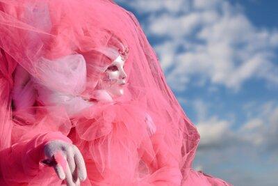 Rosa Maske und Kostüm auf venezianischen Karneval Venedig - Italien