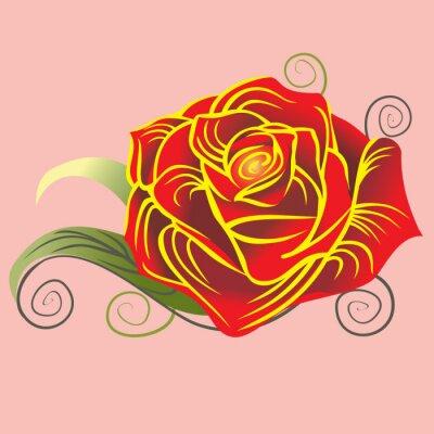 Rose im Vektor