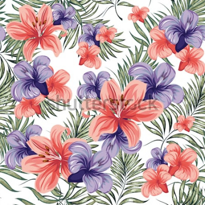 Sticker Rosen. Blühende Frühlingssommerblumenanlagen. Nahtloses Muster. Vektor-Bild.