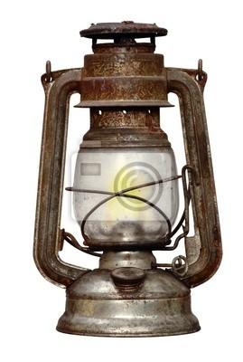 rostigen Petroleumlampe - isoliert