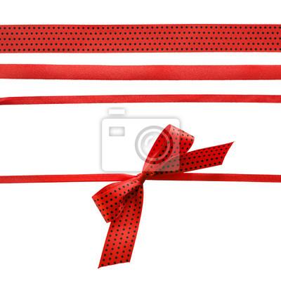 Rote und schwarze Tupfen-Band mit Schleife